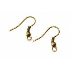 Crochets d oreilles boules 19 mm bronze x 6