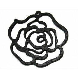 Rose 50x2.5 mm en bois noir x 1