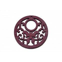 Pendentif papillon 35x2.5 mm en bois violet x 1