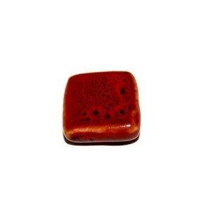 Carré en céramique 17 mm rouge x 2