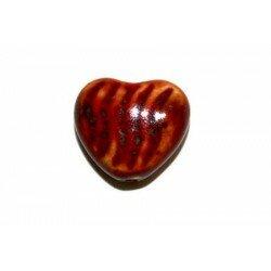 Cœur en céramique 18,5 mm rouge x 2