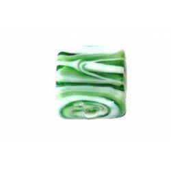 Carré 15 mm vert et blanc x 3