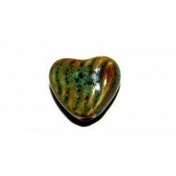Cœur en céramique 18,5 mm vert x 2