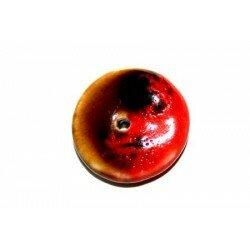 Donuts en céramique 20 mm rouge x 1