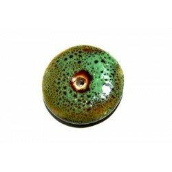 Donuts en céramique 20 mm vert x1
