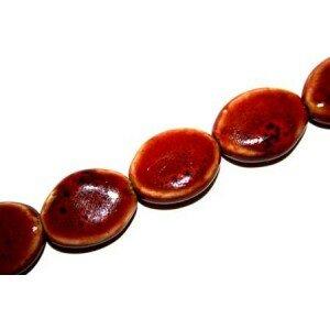 Olive plate en céramique 20x16 mm rouge x 2
