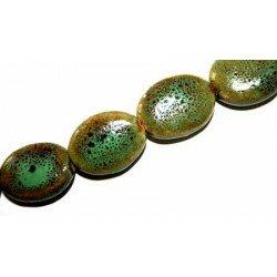 Olive plate en céramique 20x16 mm verte x 4