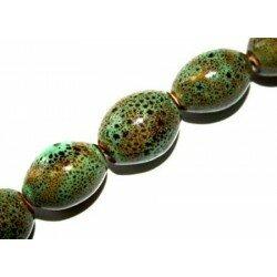 Olive en céramique 18x14 mm verte x 4