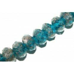 Soucoupe 13x9 mm turquoise/cuivré x 1