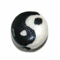 Palet en céramique 10 mm noir/blanc x 2