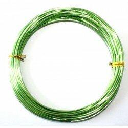 Fil aluminium 2 mm vert x 10 m
