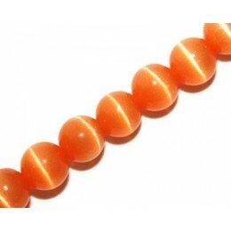 Oeil de chat 8 mm orange x 6