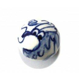 Ronde 19 mm blanche et bleue x 1