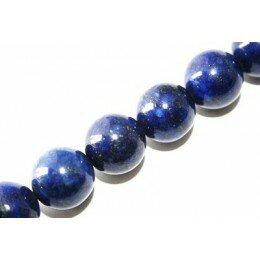 Perle Lapis lazuli 10 mm x 2