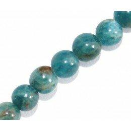 Perle Apatite ronde 4 mm x 10