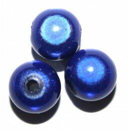 Perles magiques 6 mm bleu marine x 25