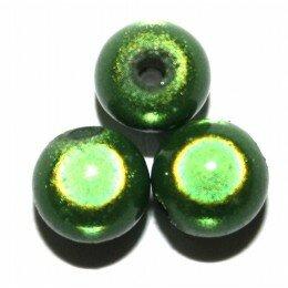 Perles magiques 6 mm Fuchsia x 25