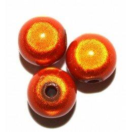 Perles magiques 12 mm orange x 5