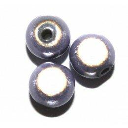 Perles magiques 14 mm Tanzanite x 1