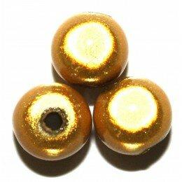 Perles magiques 14 mm Olivine x 1