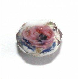 Perle en verre 8,5 mm rose x 1