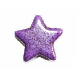 Perle étoile en howlite jaune 29 mm x 1