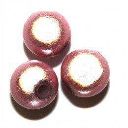 Perles magiques 8 mm rose x 15