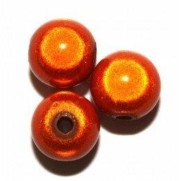 Perles magiques 8 mm orange x 10