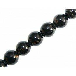 Perle Tourmaline noire 6 mm x 4