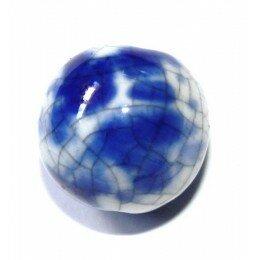 Perle ronde en céramique 15 mm rouge x1