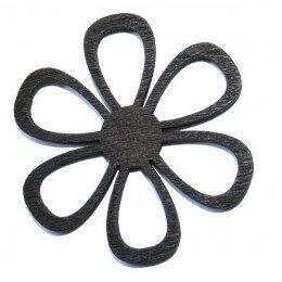 Fleur 49x2 mm en bois noir x 1