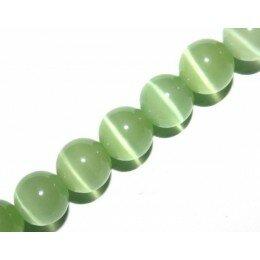 Perle Oeil de chat 6 mm vert x 10