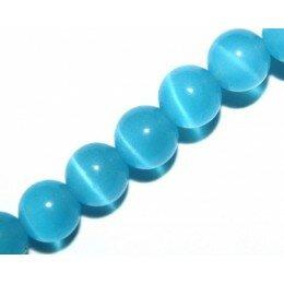 Perle Oeil de chat 6 mm bleu x 10