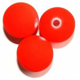 Perle satin orange 10 mm x 10