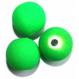 Perle satin vert fluo 12mm x 5
