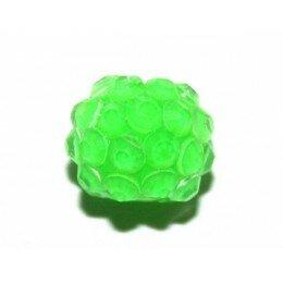 Perle shamballa vert fluo 14 mm x 1