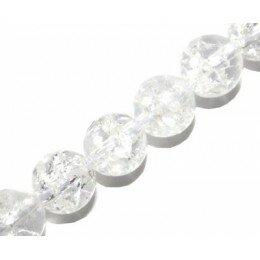 Perle Cristal craquelé 16 mm x 1