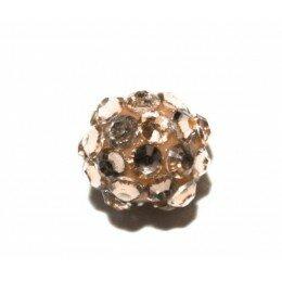 Perle shamballa beige 14 mm x 1
