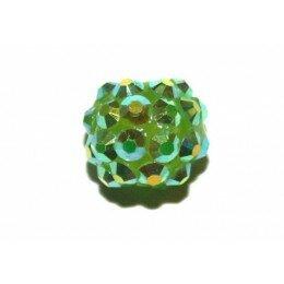 Perle shamballa verte 14 mm x 1