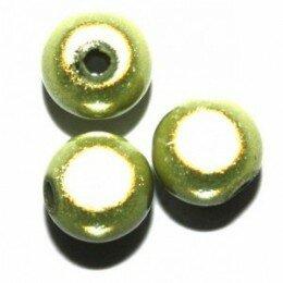 Perle magique verte 12 mm x 4