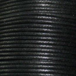 Fil Coton ciré 3 mm noir x 2 m