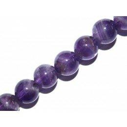 Perle Améthyste ronde 4 mm x 10