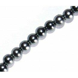 Perle nacrée 6 mm grise x 20