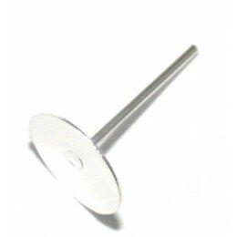 Clou d'oreille disque 8 mm argenté x 6