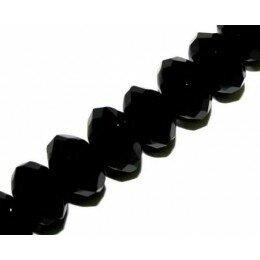 Onyx noir soucoupe biseautée 9x7,5 mm x 2