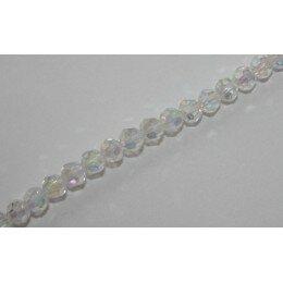 Ronde biseautée 4 mm cristal x 10