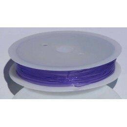 Fil élastique 0.8 mm x 6 m violet