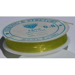 Fil élastique 0.8 mm x 6 m jaune