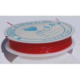 Fil élastique 0.8 mm x 6 m rouge