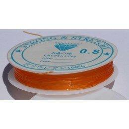 Fil élastique 0.8 mm x 6 m orange